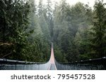 capilano suspension bridge.... | Shutterstock . vector #795457528