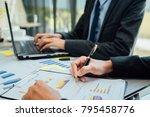 business partners meeting... | Shutterstock . vector #795458776