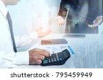 close up business man  working... | Shutterstock . vector #795459949