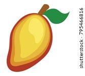 flat design icon of mango in ui ...