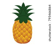 flat design icon of pineapple...