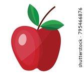 flat design icon of apple in ui ...