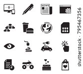 solid black vector icon set  ... | Shutterstock .eps vector #795467356