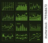 green business charts and... | Shutterstock .eps vector #795468673