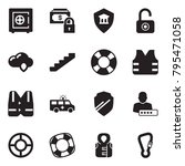 solid black vector icon set  ... | Shutterstock .eps vector #795471058