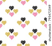 hearts seamless pattern for... | Shutterstock .eps vector #795472549