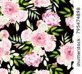 beautiful watercolor pattern... | Shutterstock . vector #795474898