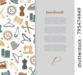handmade  handcraft  sewing... | Shutterstock .eps vector #795474949
