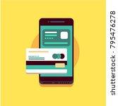 concept illustration of mobile... | Shutterstock .eps vector #795476278