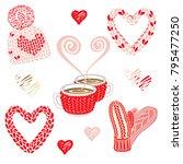 saint valentine's day... | Shutterstock .eps vector #795477250