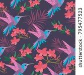 beautiful seamless vector... | Shutterstock .eps vector #795477523