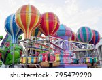 folded up colorful carnival... | Shutterstock . vector #795479290
