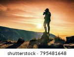 photographer man shooting... | Shutterstock . vector #795481648