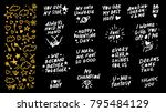 collection of vector hand made... | Shutterstock .eps vector #795484129