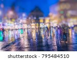 crowd of anonymous people... | Shutterstock . vector #795484510