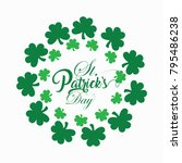 st patrick's day  17 march  | Shutterstock .eps vector #795486238