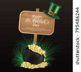 st patrick's day  17 march  | Shutterstock .eps vector #795486244