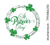 st patrick's day  17 march  | Shutterstock .eps vector #795486250
