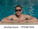young handsome man in... | Shutterstock . vector #795487444