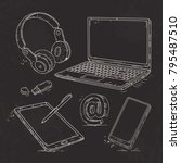vector graphics  hand drawn... | Shutterstock .eps vector #795487510