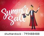 summer sale   cartoon people...   Shutterstock .eps vector #795488488