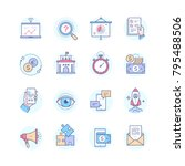 business concepts   set of line ... | Shutterstock .eps vector #795488506