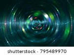 abstract blue background with... | Shutterstock . vector #795489970