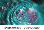 abstract background neon tunnel.... | Shutterstock . vector #795490000