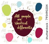 all people are identical... | Shutterstock .eps vector #795490204