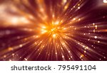 abstract red bokeh circles on a ... | Shutterstock . vector #795491104