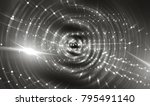 abstract gray background with... | Shutterstock . vector #795491140