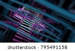 abstract bright neon motion... | Shutterstock . vector #795491158