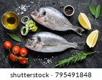 sea bream or dorado sea fish ... | Shutterstock . vector #795491848
