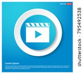 film strip icon abstract blue... | Shutterstock .eps vector #795492538