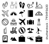 tourism icons. set of 25... | Shutterstock .eps vector #795493630
