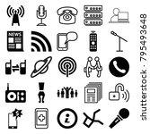 communication icons. set of 25... | Shutterstock .eps vector #795493648