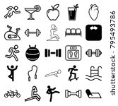 lifestyle icons. set of 25... | Shutterstock .eps vector #795493786