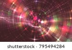 abstract red background with... | Shutterstock . vector #795494284