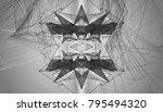 white and black kaleidoscope... | Shutterstock . vector #795494320