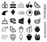 tasty icons. set of 25 editable ... | Shutterstock .eps vector #795494800