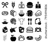 eat icons. set of 25 editable... | Shutterstock .eps vector #795494806