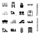 freight icons. set of 16... | Shutterstock .eps vector #795494884
