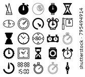 timer icons. set of 25 editable ... | Shutterstock .eps vector #795494914