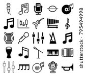 musical icons. set of 25... | Shutterstock .eps vector #795494998