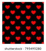 red hearts seamless pattern... | Shutterstock .eps vector #795495280