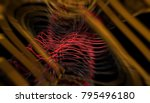 abstract background gold tunnel.... | Shutterstock . vector #795496180