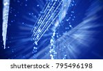 abstract bright blue motion... | Shutterstock . vector #795496198