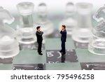 miniature people  businessmen... | Shutterstock . vector #795496258