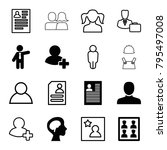 profile icons. set of 16... | Shutterstock .eps vector #795497008