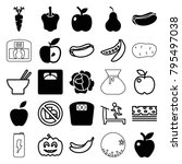 diet icons. set of 25 editable...   Shutterstock .eps vector #795497038